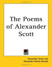 The Poems Of Alexander Scott