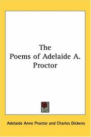 Cover of: The Poems of Adelaide A. Proctor