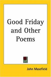 Cover of: Good Friday, and other poems