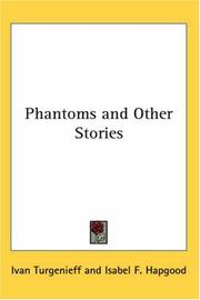 Cover of: Phantoms and other stories