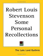 Cover of: Robert Louis Stevenson Some Personal Recollections