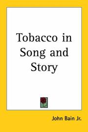 Cover of: Tobacco In Song And Story