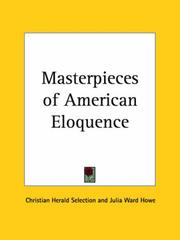 Cover of: Masterpieces of American Eloquence