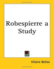 Cover of: Robespierre: a study