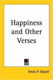 Cover of: Happiness and Other Verses