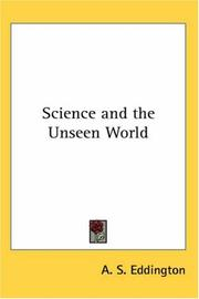 Cover of: Science And The Unseen World