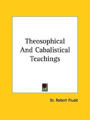 Cover of: Theosophical and Cabalistical Teachings