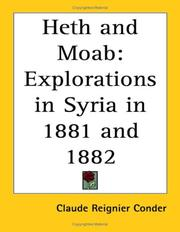 Cover of: Heth and Moab
