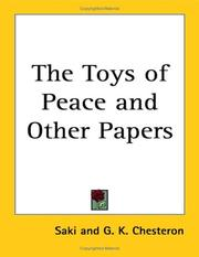 Cover of: The Toys of Peace and other papers