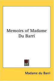Cover of: Memoirs Of Madame Du Barri