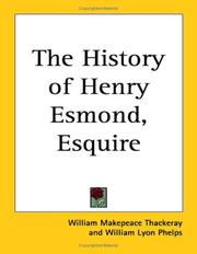 Cover of: The history of Henry Esmond, Esquire