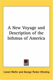 Cover of: A new voyage & description of the isthmus of America