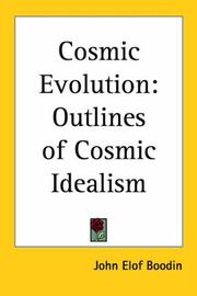 Cover of: Cosmic Evolution