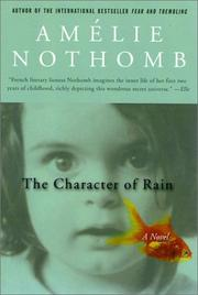 Cover of: The Character of Rain