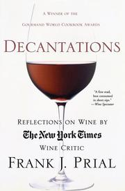 Cover of: Decantations | Frank Prial