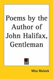 Cover of: Poems By The Author Of John Halifax, Gentleman