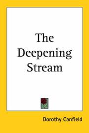 Cover of: The deepening stream