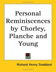 Cover of: Personal Reminiscences by Chorley, Planche And Young