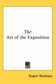 Cover of: The Art Of The Exposition | Eugen Neuhaus