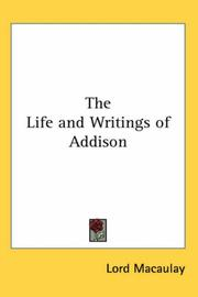 Cover of: The Life And Writings of Addison