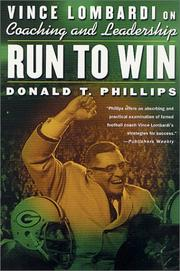 Cover of: Run to Win: Vince Lombardi on Coaching and Leadership