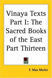 Cover of: Vinaya Texts Part I