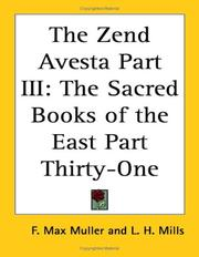 Cover of: The Zend Avesta