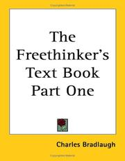 Cover of: The Freethinker's Text Book