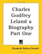 Cover of: Charles Godfrey Leland a Biography | Elizabeth Robins Pennell