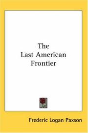 Cover of: The Last American Frontier