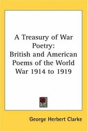 Cover of: A Treasury of War Poetry