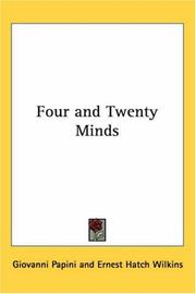 Cover of: Four and Twenty Minds