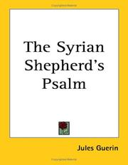 Cover of: The Syrian Shepherd's Psalm