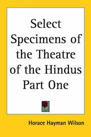 Select Specimens of the Theatre of the Hindus