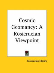 Cover of: Cosmic Geomancy by Rosicrucian