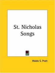 Cover of: St. Nicholas Songs
