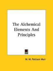 Cover of: The Alchemical Elements And Principles