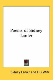 Cover of: Poems of Sidney Lanier | Sidney Lanier