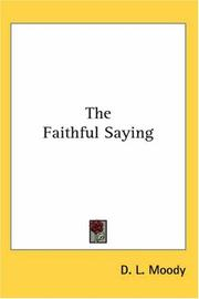 Cover of: The Faithful Saying