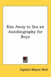 Cover of: Ran Away to Sea an Autobiography for Boys