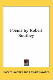 Cover of: Poems by Robert Southey