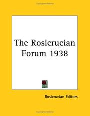 Cover of: The Rosicrucian Forum 1938