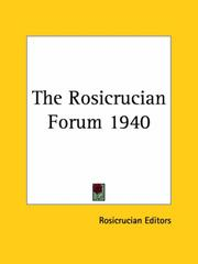 Cover of: The Rosicrucian Forum 1940