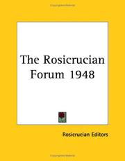 Cover of: The Rosicrucian Forum 1948