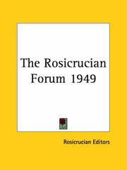 Cover of: The Rosicrucian Forum 1949
