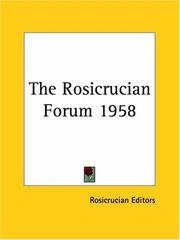 Cover of: The Rosicrucian Forum 1958