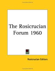 Cover of: The Rosicrucian Forum 1960