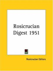 Cover of: Rosicrucian Digest 1951