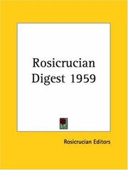 Cover of: Rosicrucian Digest 1959
