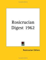 Cover of: Rosicrucian Digest 1962